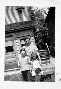 Grandma Ciacchina Lombardo, Uncle Sal, Aunt Mary c 1945