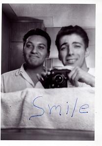 Uncle Sal and Jack Terranova Dormatory at Gannon College Erie PA c. 1958