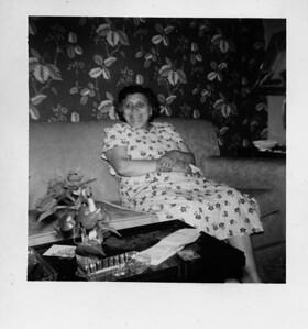 Grandma Ciacchina Lombardo on Sidney St. Buffalo NY c 1955
