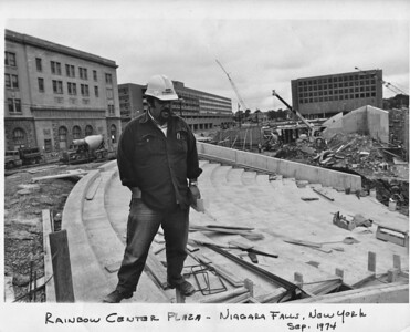 Uncle Sal project engineer on construction site Sept 1974