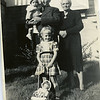 Uncle Arthur, Aunt Bilo, Lon, Sandra<br /> Christmas 1947