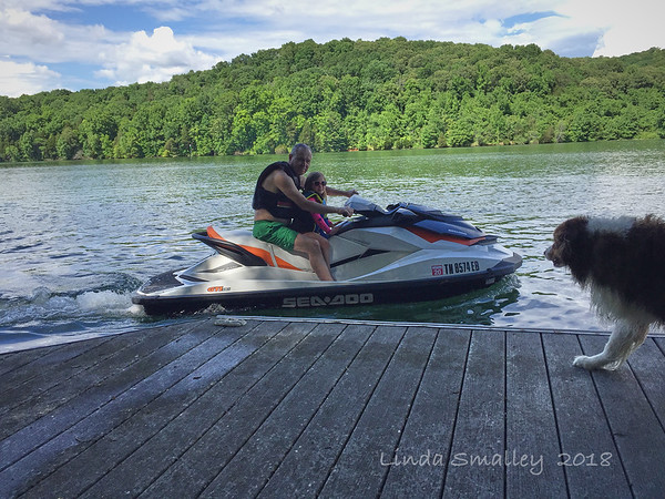 Wore Gramps out on the jet ski