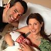 Newborn shot with parents