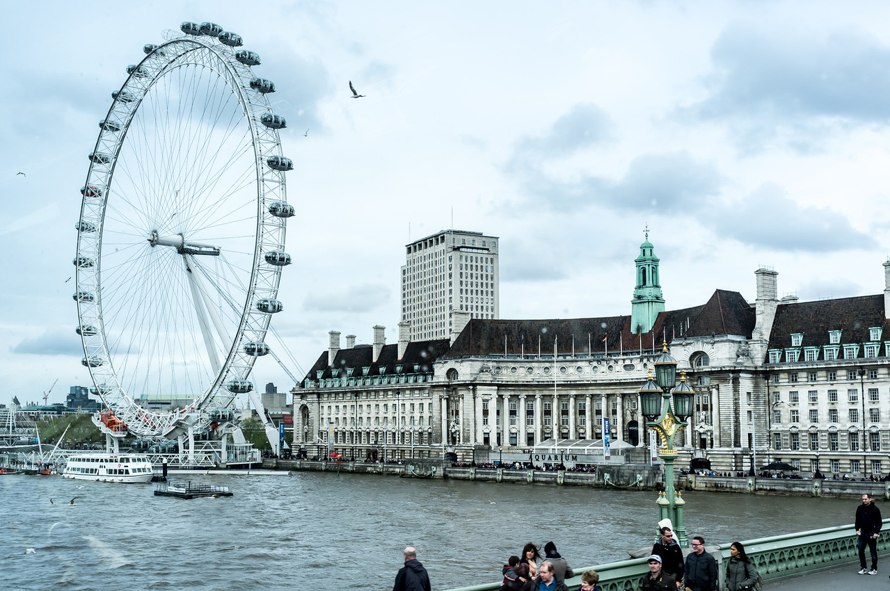 London from a bus