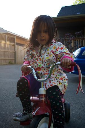 Maya rocking the trike