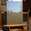 Painting on the easel.