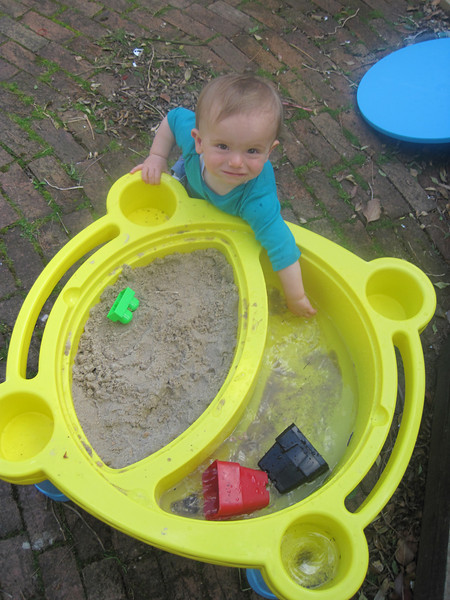 First birthday present from Mummy and Daddy: a water and sand table!
