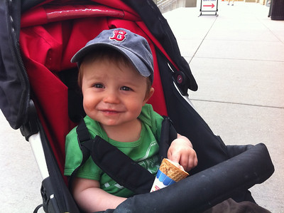 his very first ice cream cone