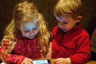 cousins enjoying a moment
