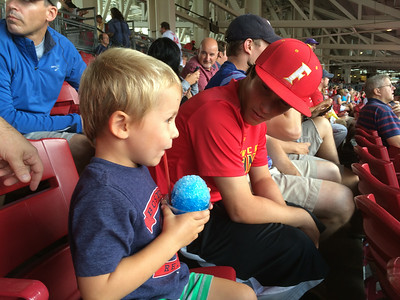 Reds-Red Sox game with cousin Mitchell