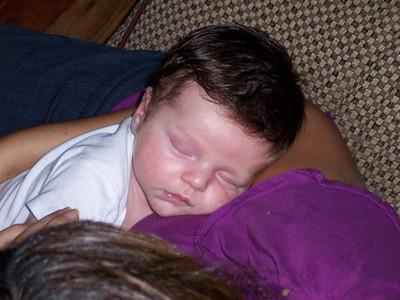 Luca sleeping Sep 08