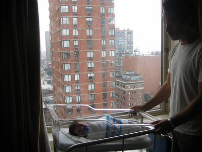 Luca in Roosevelt Hospital with David