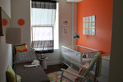 Luca's room with him in it.