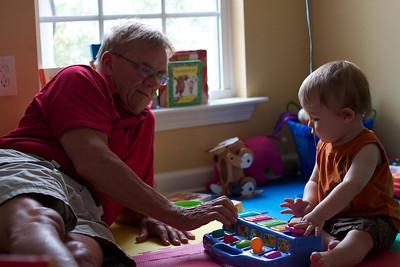 Grandpa Tim and Luca