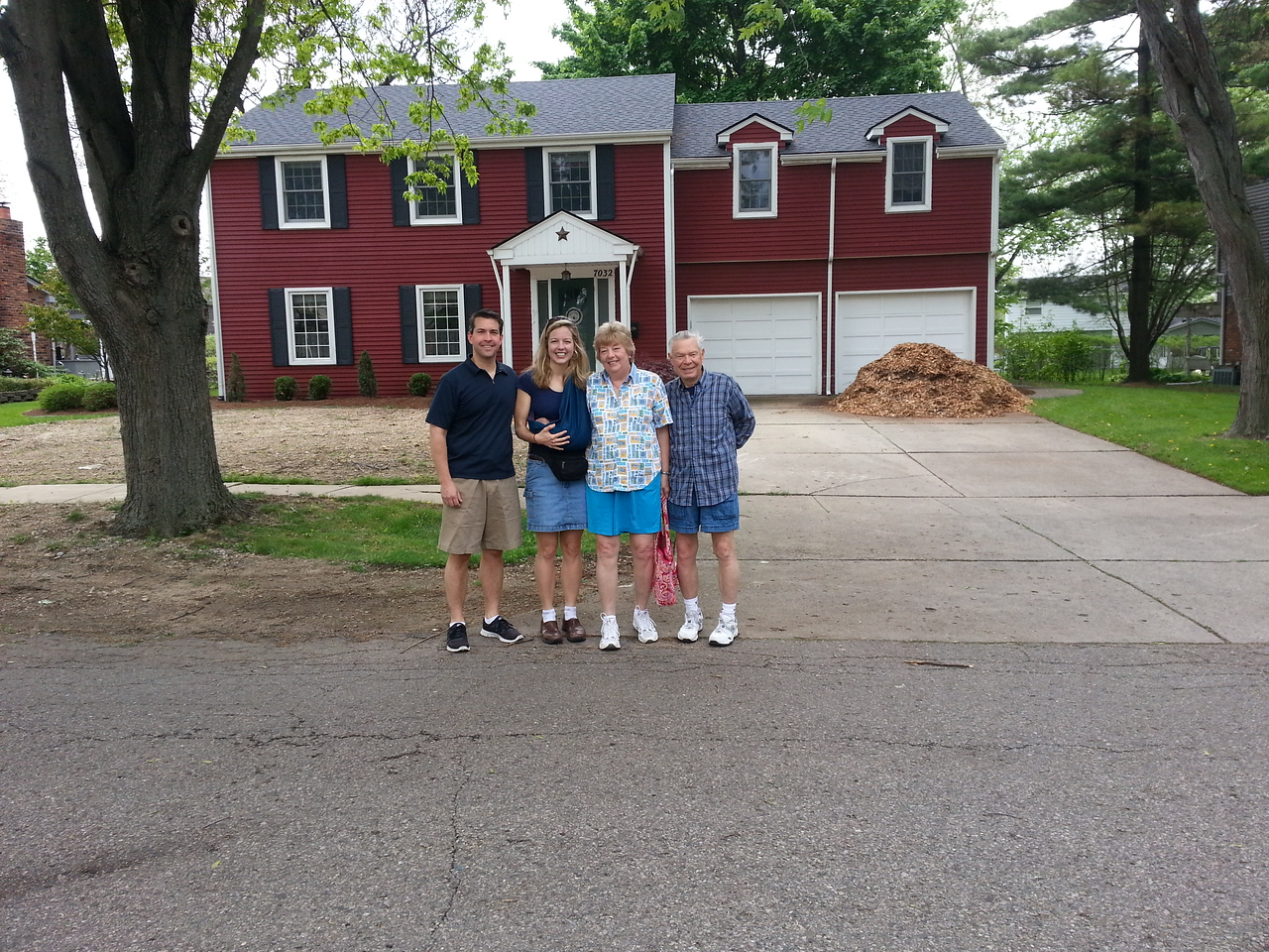 The house we stayed at in Michigan