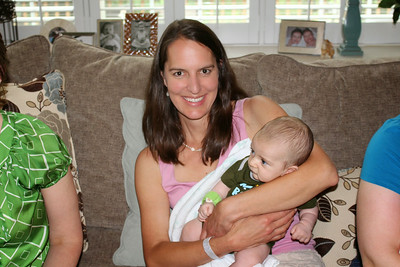Baby Shower - Amy holding baby Ellias