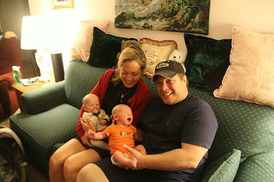 4th of July and first meeting with cousin Chrisitan born just 3 days before Lucas.