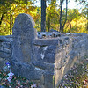 A very old, small family cemetery near the Collier's home in Guntersville, AL.  This is a hand carved headstone.