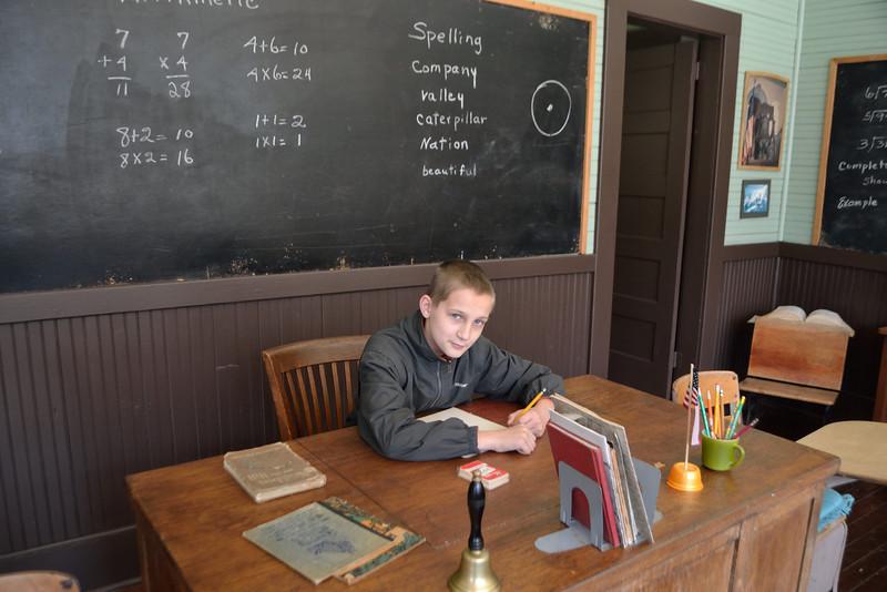 Lucas, the professor. Old schoolhouse, Arab Alabama
