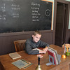 Lucas, the professor. Old schoolhouse, Arab Alabama