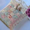 Celeste's handiwork--a miniature bed set.