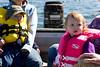Enjoying a boat ride on Lake George.