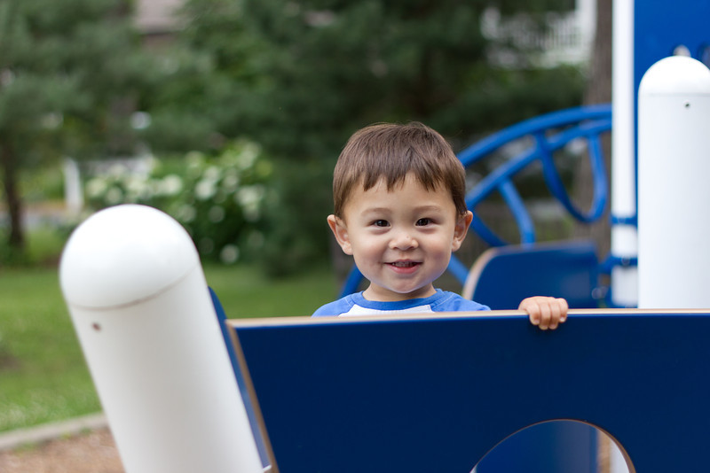 An outing at the Cottagewood playground with dad.