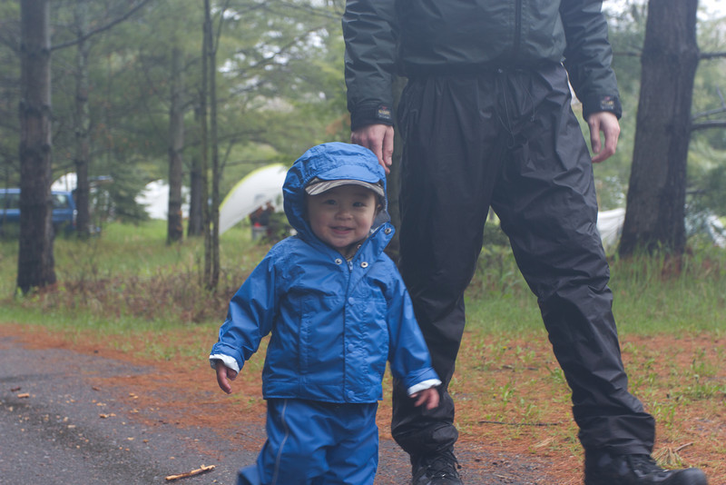 Happy in the rain!