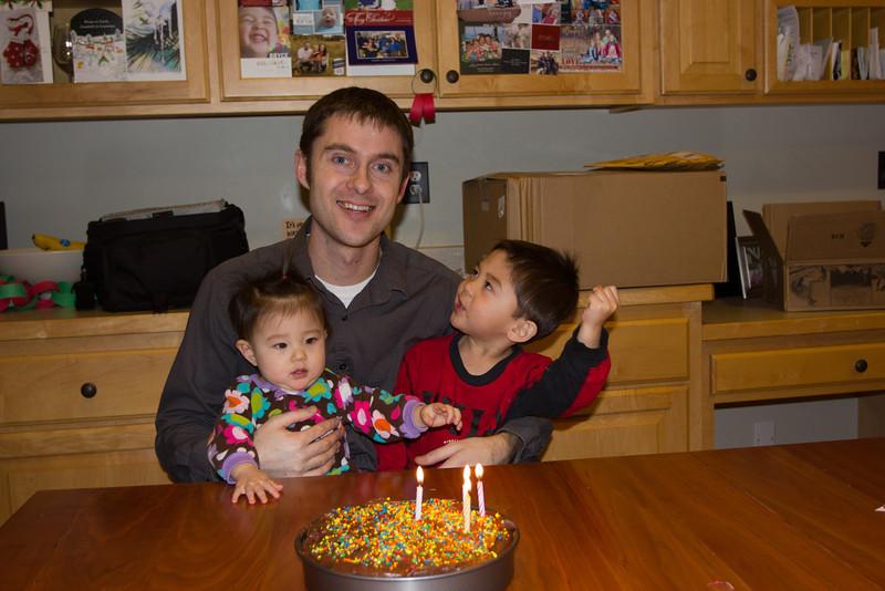 Celebrating Luke's birthday!