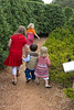 Bryce having fun exploring the maze at the Arboretum with Signe and Aaron's girls, Lillian, Ellenora, and Solvei