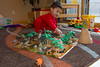 Playing dinosaurs is always fun!