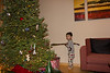 We put the presents out the night before and Bryce immediately found the hockey stick shaped present Christmas morning.