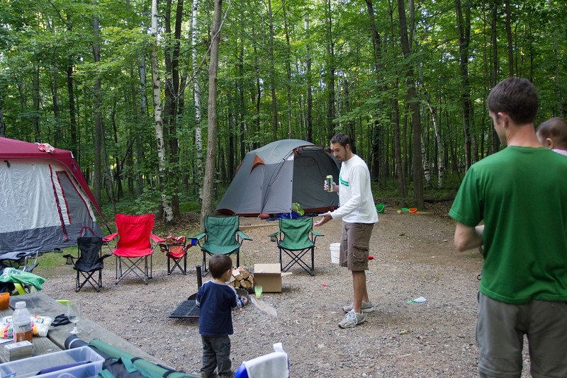 Camping with the Smiths and Viks at Father Hennepin State Park on Lake Mille Lacs.