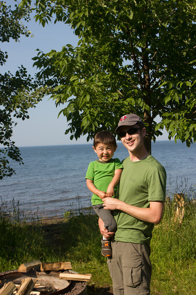 Our camp in the Porcupine Mountains was right on Lake Superior!