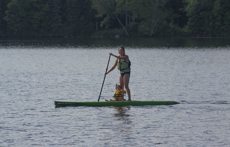 Trying out the paddleboard!