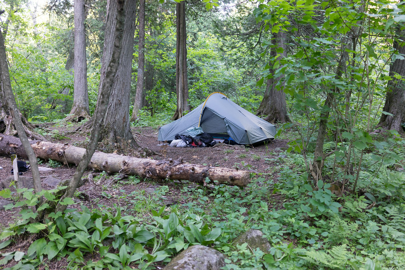 Our new 4 person Hogback Tarptent, weighing only 4 pounds.