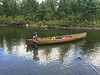 Bryce held the canoe at each portage while we loaded it. Canoeing with a kevlar is much different than an aluminum which can be paddled right up onto rocks.