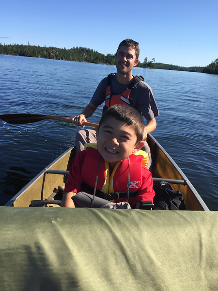 Paddling on our last morning through Birch Lake and then the Moose Lake system where power boats are allowed and where we had shuttled with a boat at the start of the trip. We were out by 11:00 am and counted 16 canoes vs. 15 power boats.