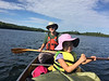 Paddling down the South Arm of Knife Lake. Hot and sunny! Found a site by 11:00 am.