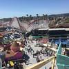 The Santa Cruz beach boardwalk  rides were very enjoyable! View from atop the ferris wheel.