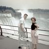 Lucy, Bill & Patty Hall @ Niagara Falls - July 1959