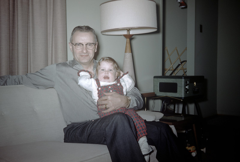 Sue Ludwig at 25 Months Old with Grandpa Ludwig - December 1959