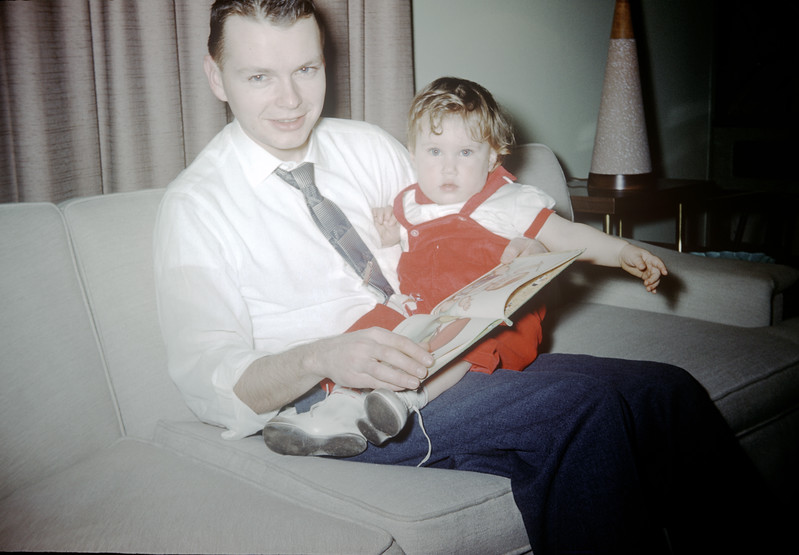 Sue Ludwig at 13 Months Old with Dad - December 1959