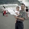 Sue with Dad @ Niagara Falls - July 1959