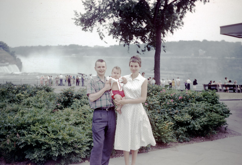 Sue with Mom and Dad @ Niagara Falls - July 1959