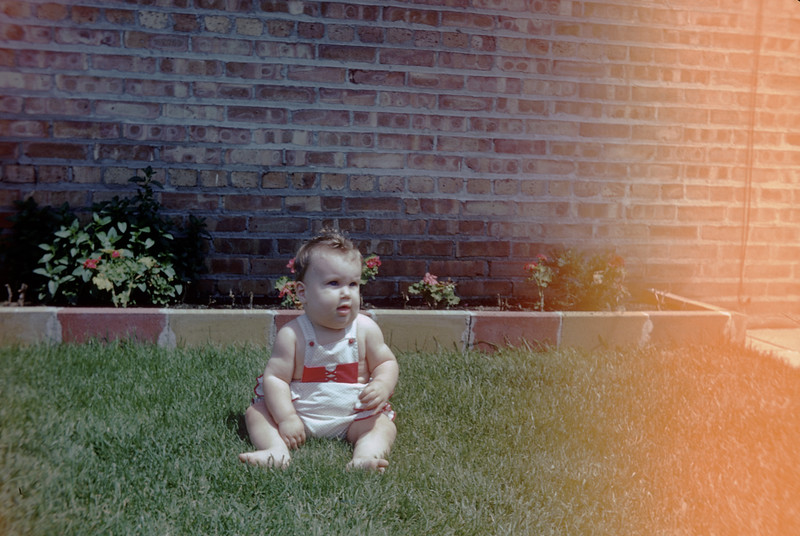 Sue Ludwig at 6.5 Months Old at Grandma & Grandpa's in Dolton - July 1959