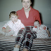 Sue Ludwig (13 mos.) & Linda Ludwig (1.5 mos) with Mom - December 1959