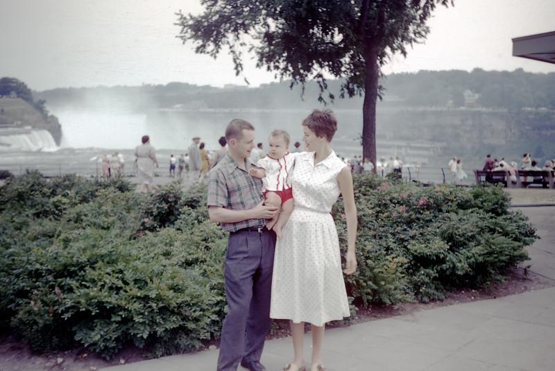 Sue with Mom and Dad @ Niagara Falls - July 1959