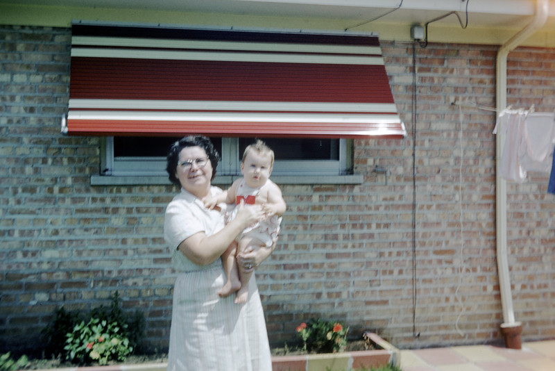 Sue with Grandma Ludwig at 6.5 Months Old in Dolton - July 1959