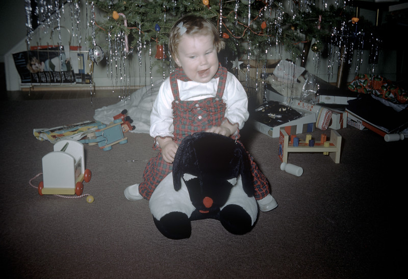 Sue Ludwig at 25 Months Old - Christmas - December 1959